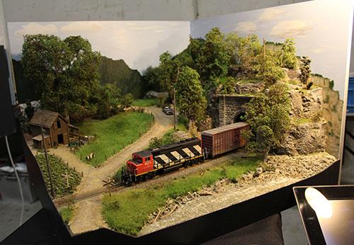 Modelspoor diorama