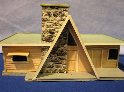Een scratch building huisje