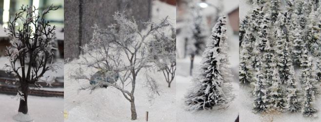 modelbomen winterbaan