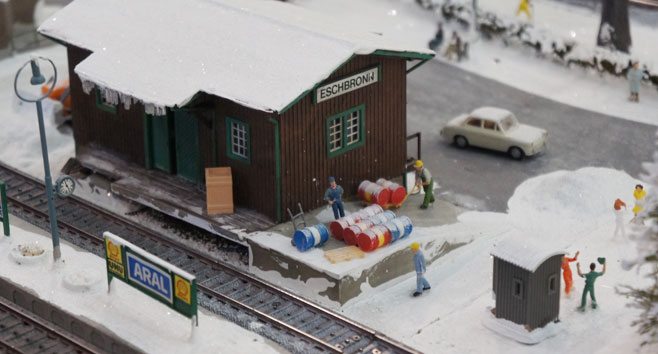 Winterbaan in modelspoor