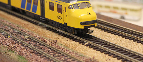 modelspoor rails ballast