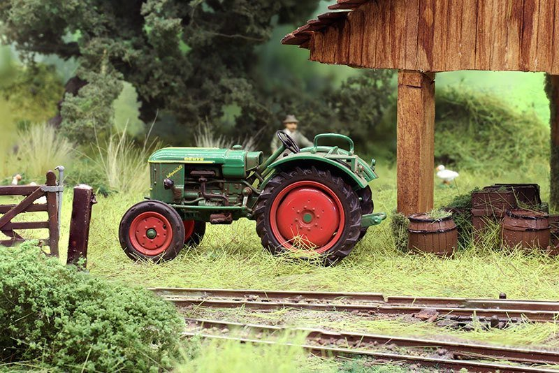 Modelspoor traktor