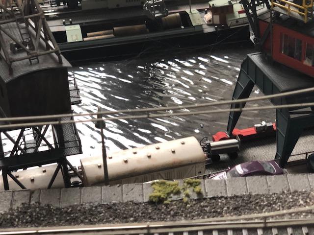 Een mooi aangelegd haventafereel