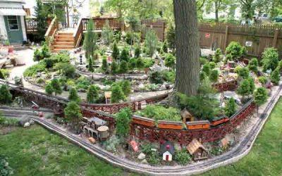 Een trein in je tuin